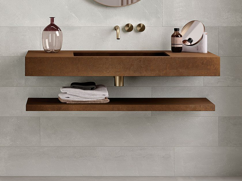 Porcelain stoneware bathroom wall shelf CUT by Italgraniti