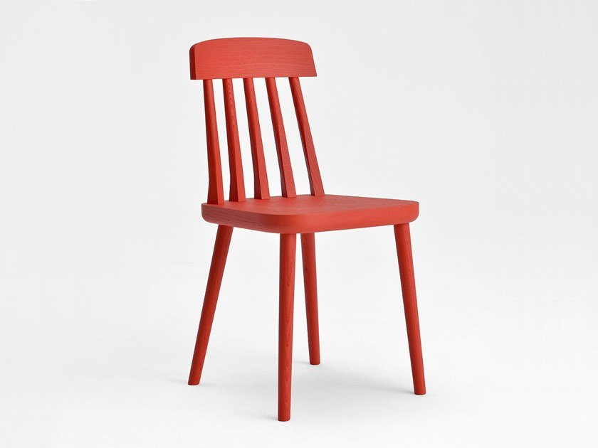 Lacquered ash chair CUT | Lacquered chair by SIPA