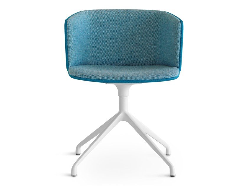 Swivel upholstered fabric chair CUT | Swivel chair by Lapalma