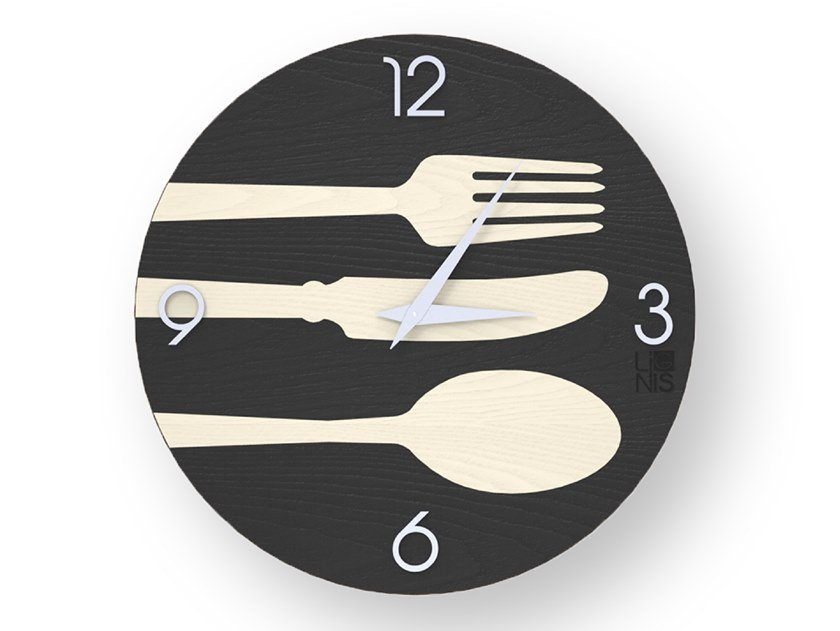 Wooden clock CUTLERY COLD | Clock by LIGNIS®