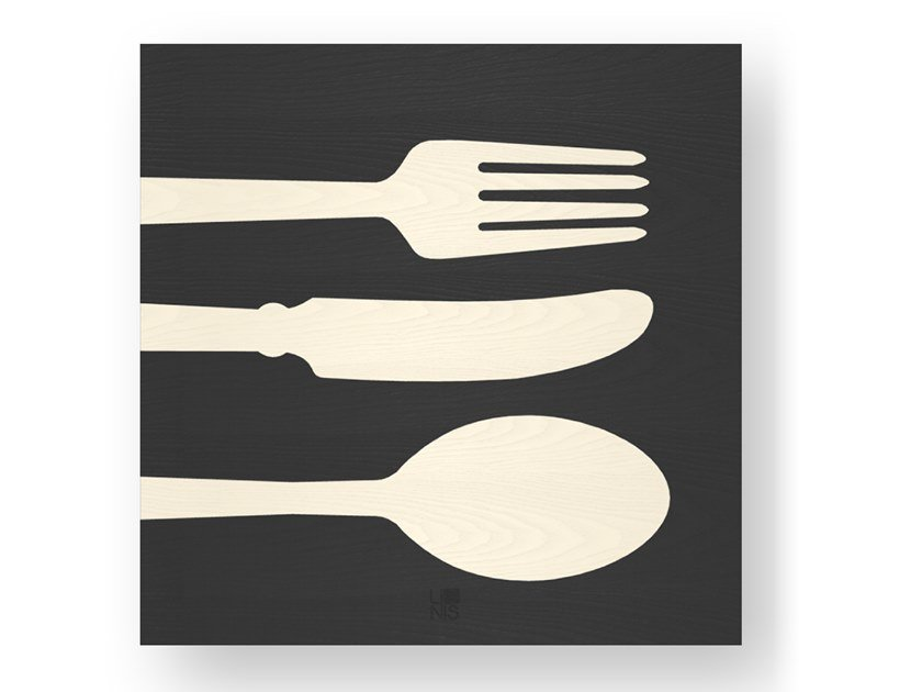 Wooden Decorative panel CUTLERY COLD by LIGNIS®