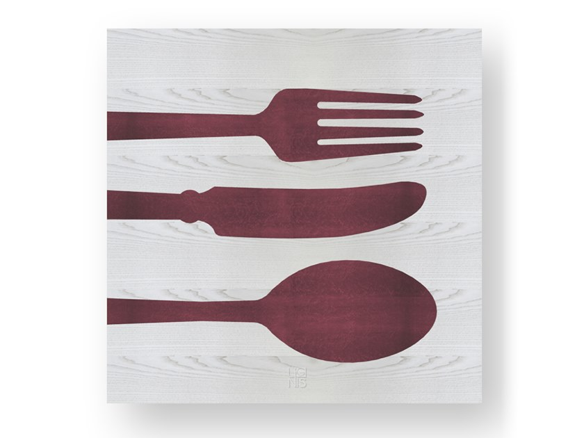 Wooden Decorative panel CUTLERY COLORS by LIGNIS®