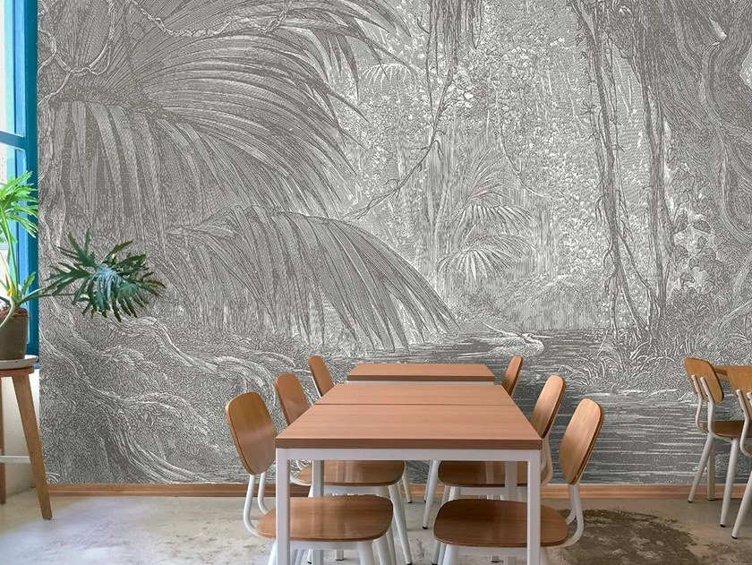 Tropical Wallpaper Pvc Free Eco Washable Cuzco Ambiente Collection By Wallpepper Group