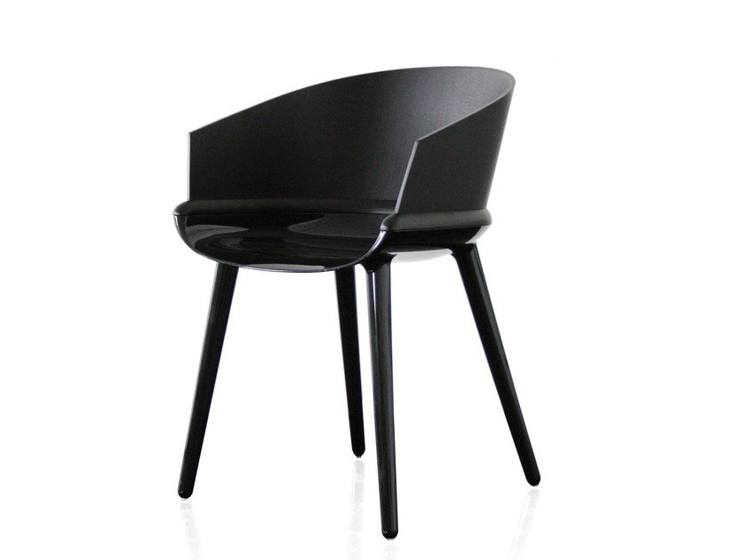 Multi-layer wood chair with armrests CYBORG PLY by Magis