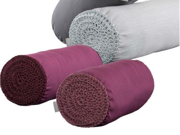 Roll polyester cushion CYLINDER by Ilektras Croshade