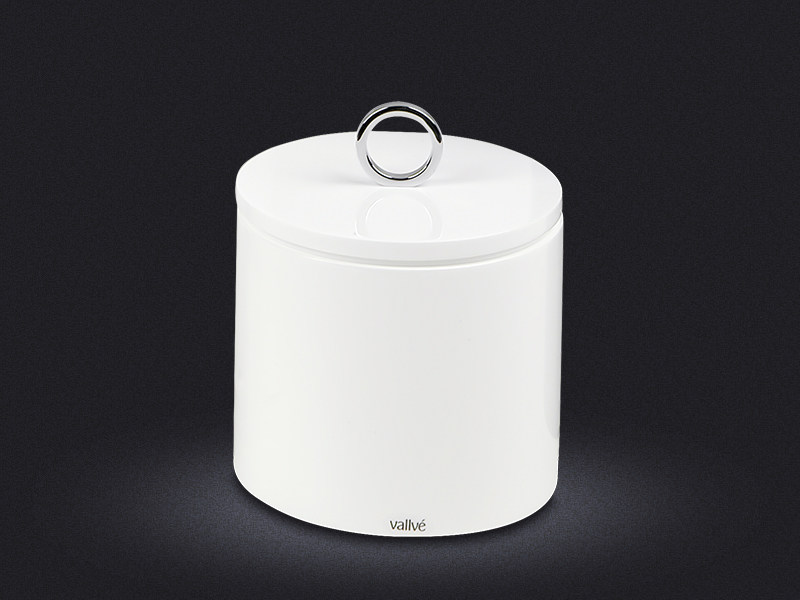 Resin bathroom waste bin CYLINDRIC COUNTERTOP | Resin bathroom waste bin by Vallvé