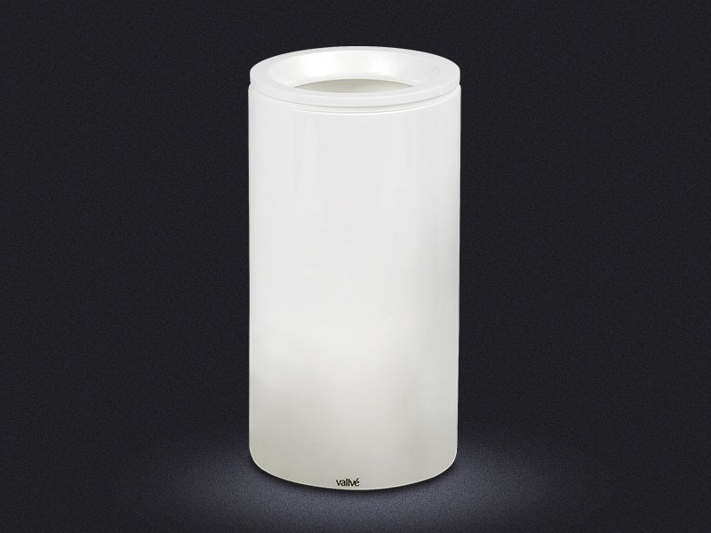 Resin bathroom waste bin CYLINDRIC | Resin bathroom waste bin by Vallvé