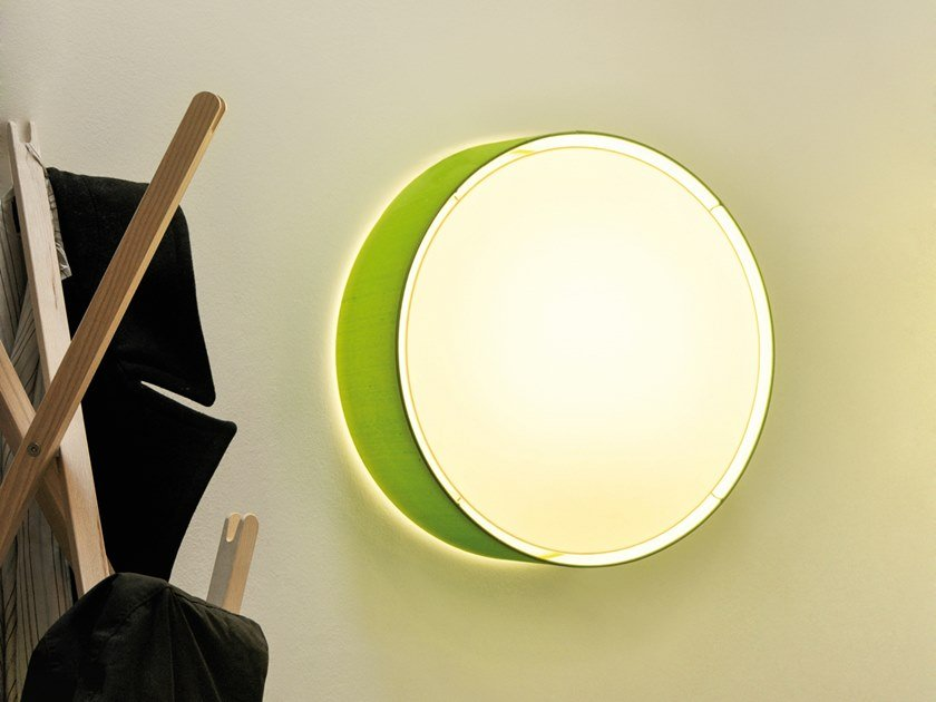Fabric wall lamp / ceiling lamp CYLS_EYE by filumen