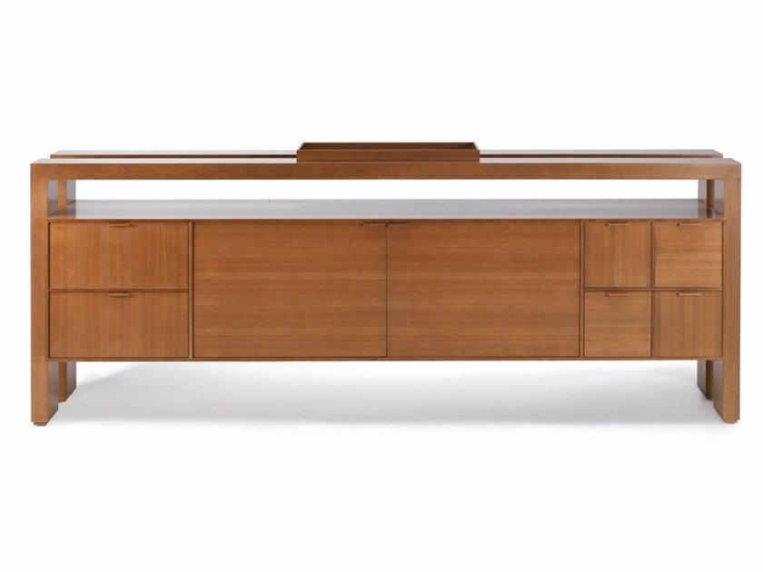 Cherry wood sideboard with doors with drawers D 1303 | Cherry wood sideboard by Annibale Colombo