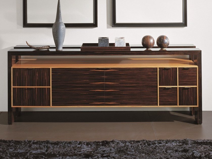 Ebony sideboard with doors with drawers D 1303 | Ebony sideboard by Annibale Colombo