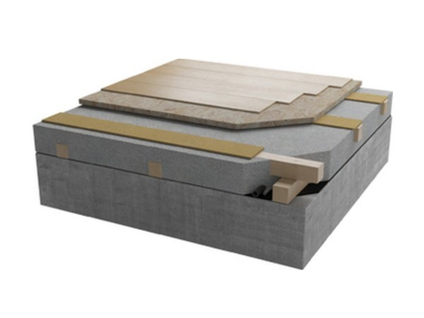 Thermal insulation panel Floor slab by Naturalia BAU