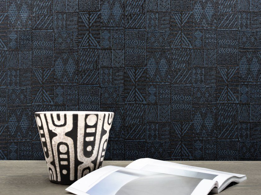 Fireproof nonwoven wall tiles NAIROBI by Élitis