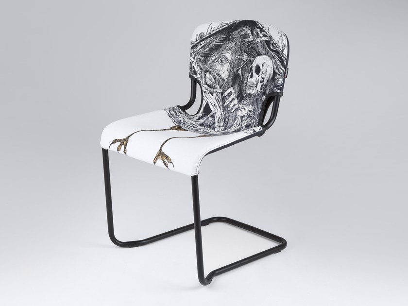 Cantilever chair D-LIGHT BABA JAGA by KUBIKOFF