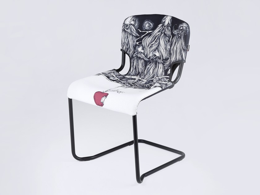 Cantilever chair D-LIGHT SNOW WHITE AND THE SEVEN DWARFS by KUBIKOFF