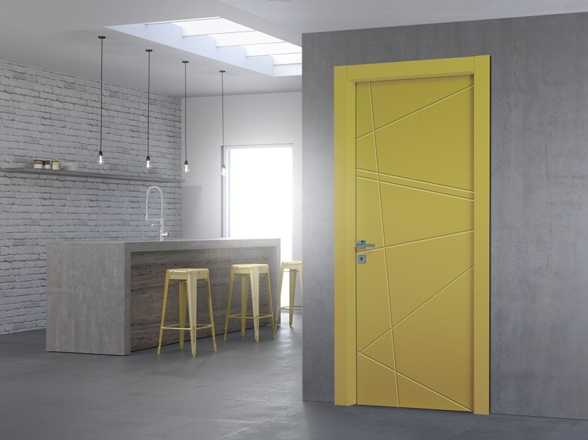 Hinged lacquered door D-METRIA by DIERRE