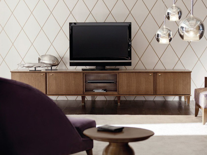 Wooden TV cabinet DESIRÉ | TV cabinet by OPERA CONTEMPORARY