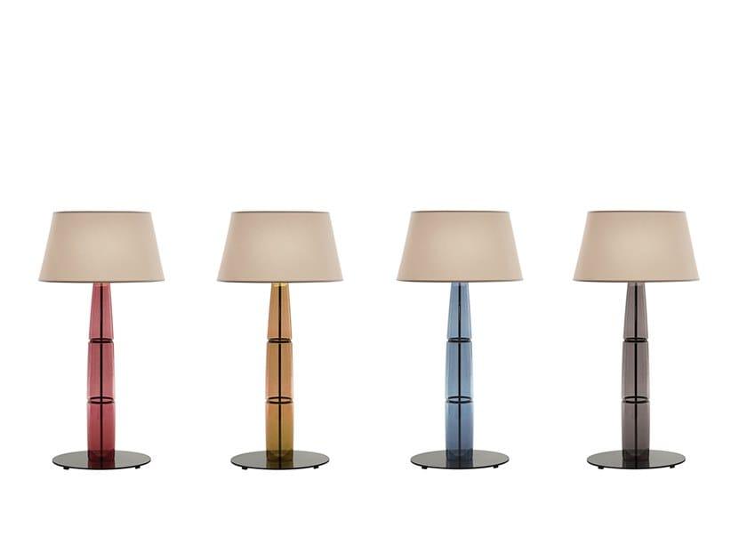 LED Borosilicate glass floor lamp D'ORA by Promemoria