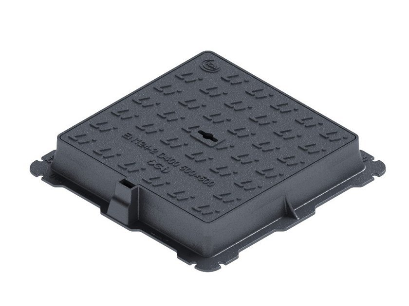 Manhole cover and grille for plumbing and drainage system D400 SQUARE by LINK industries