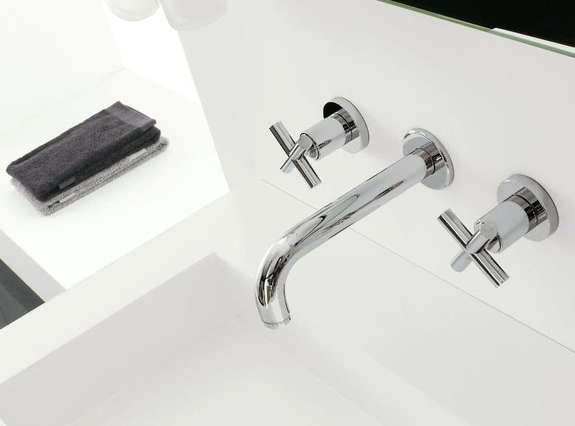 3 hole wall-mounted washbasin tap DA-DA | Wall-mounted washbasin tap by ZAZZERI