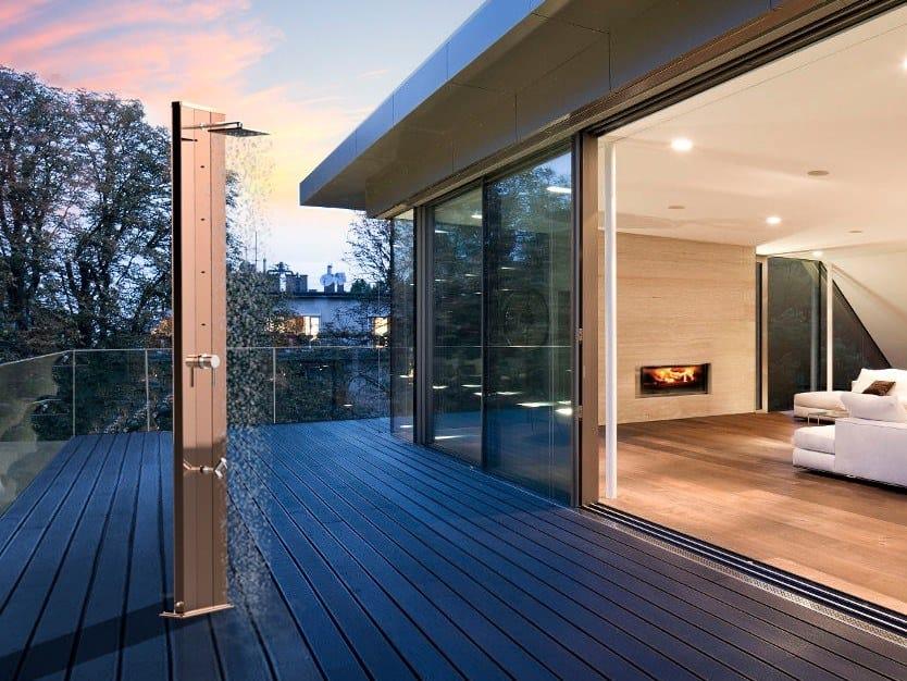 Aluminium outdoor shower DADA TOPLINE by ARKEMA DESIGN