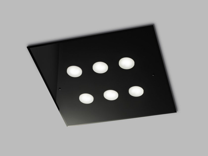 LED glass ceiling lamp DADO L 60 x 60 by Metal Lux