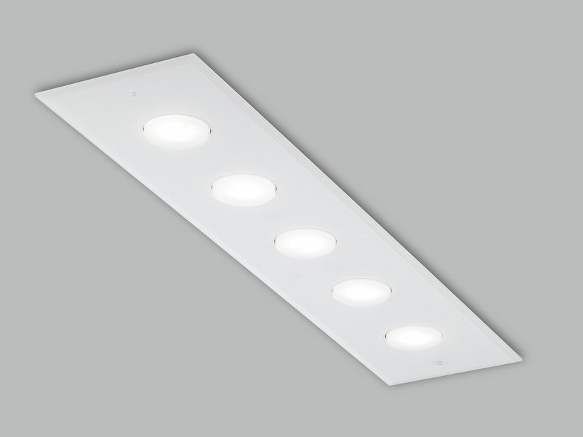 LED glass ceiling lamp DADO L 90 X 20 | Ceiling lamp by Metal Lux