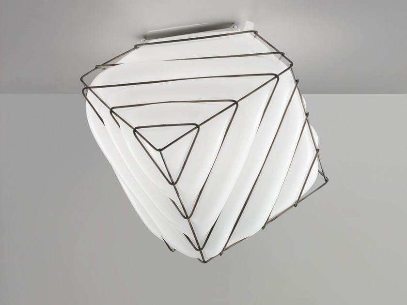 Murano glass ceiling light DADO RC 431 by Siru