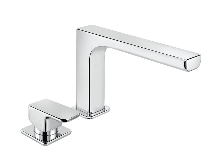 2 hole single handle bathtub set with aerator DAILY 44 - 4431204 by Fir Italia