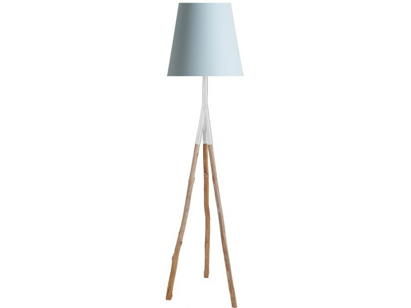 Wooden floor lamp DAKAR | Floor lamp by Flam & Luce