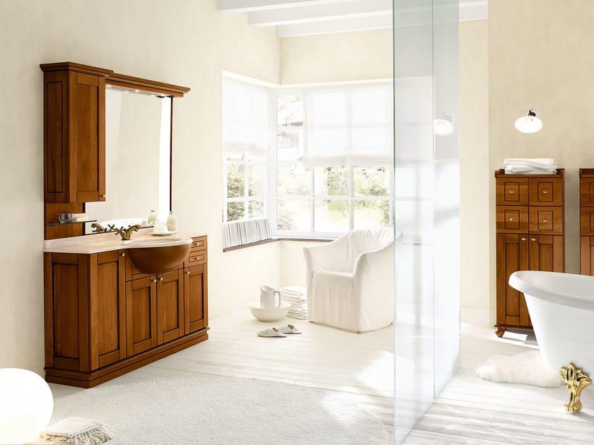 Walnut bathroom cabinet / vanity unit DALÌ - COMPOSITION 16 by Arcom