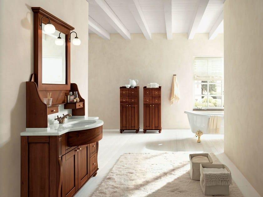 Walnut bathroom cabinet / vanity unit DALÌ - COMPOSITION 19 by Arcom