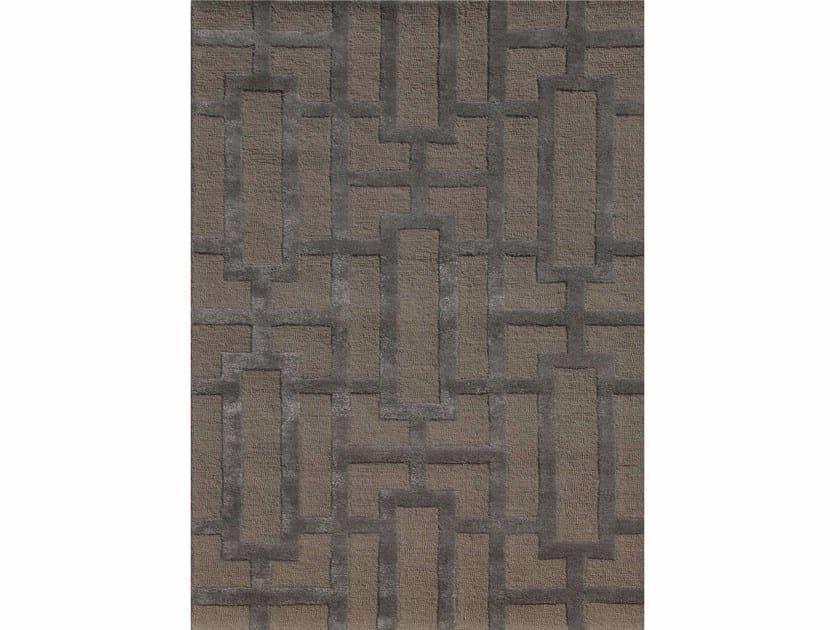 Rug with geometric shapes DALLAS TAQ-229 Silver Gray/Medium Gray by Jaipur Rugs