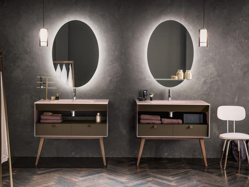 Floor-standing Dualite® vanity unit DAMA   Vanity unit by ARTELINEA
