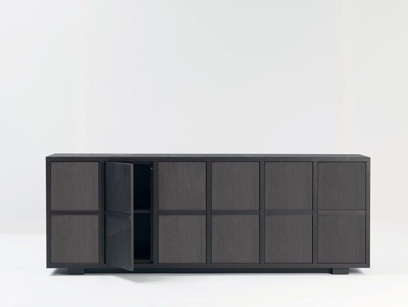 Multi-layer wood sideboard with doors DAMA by Mascheroni