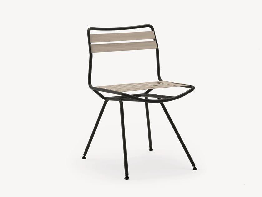 Steel garden chair DAN Outdoor 2073 by Zanotta