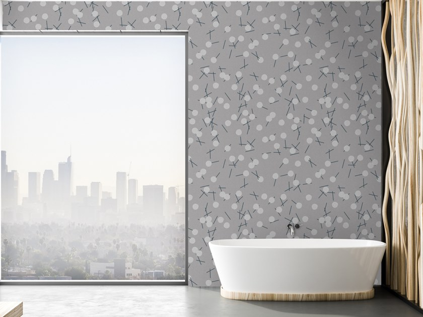 Motif washable vinyl wallpaper DANDELION by Baboon