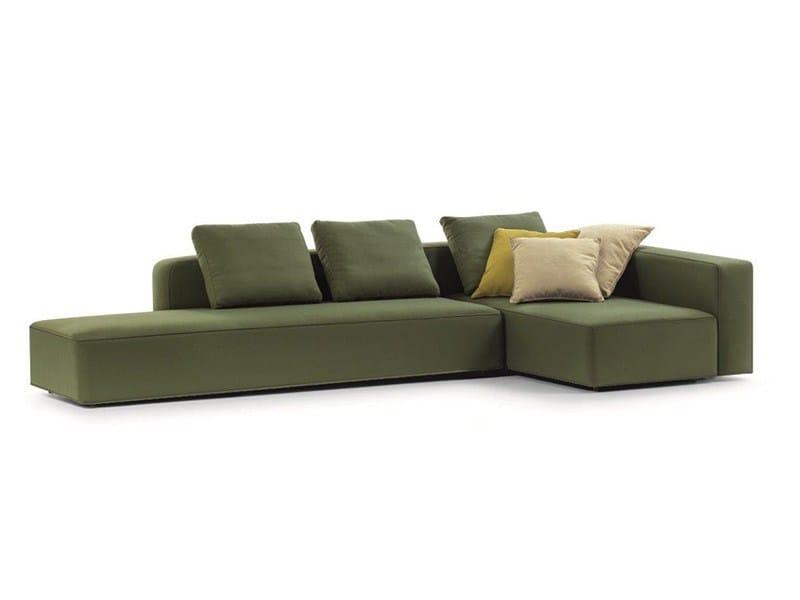 Corner fabric garden sofa DANDY | Corner garden sofa by RODA