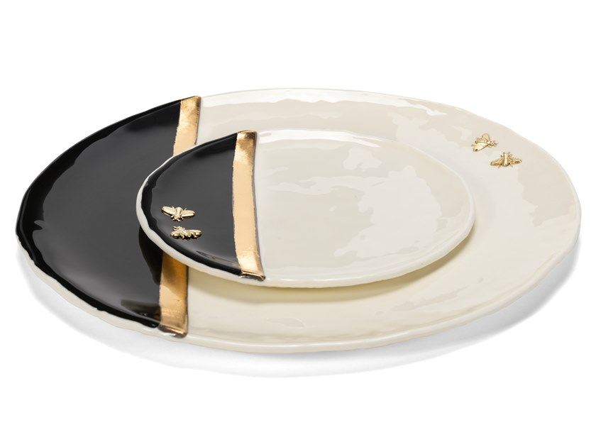 Glass dinner plate DANIELAPOLETTI | Plate by Visionnaire