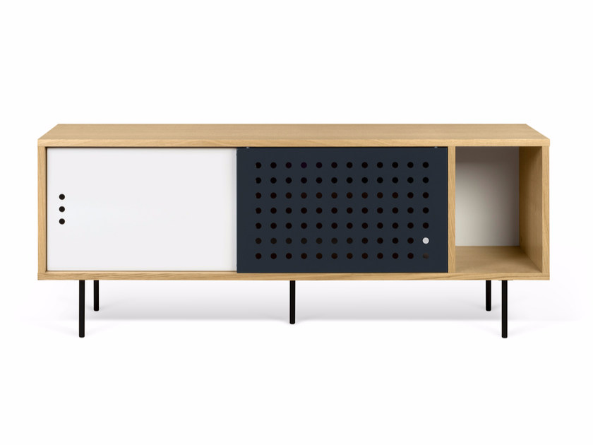 Sideboard with sliding doors DANN DOTS | Sideboard by TemaHome