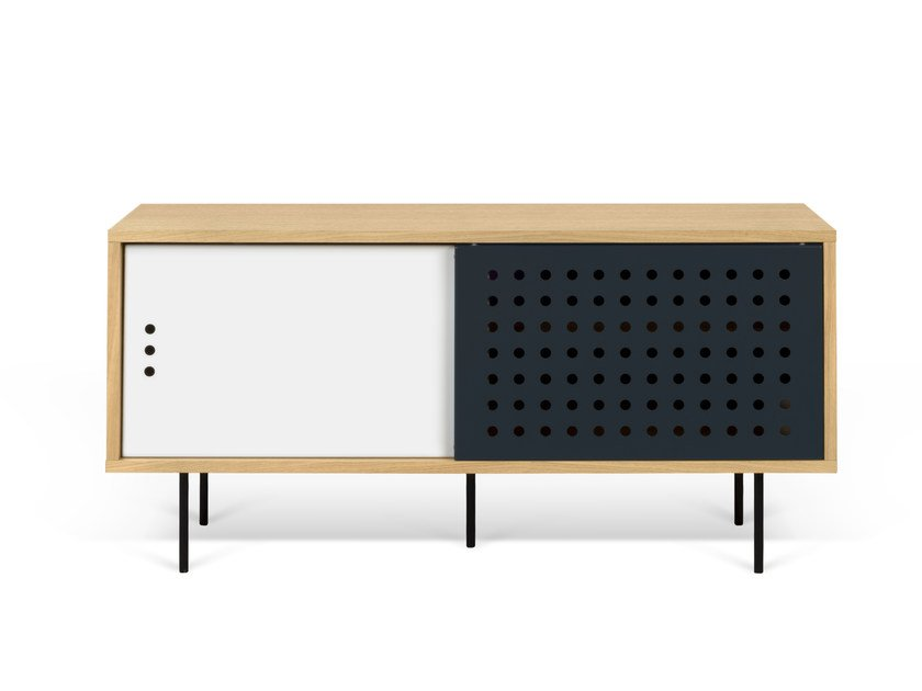 TV cabinet with sliding doors DANN DOTS | TV cabinet by TemaHome