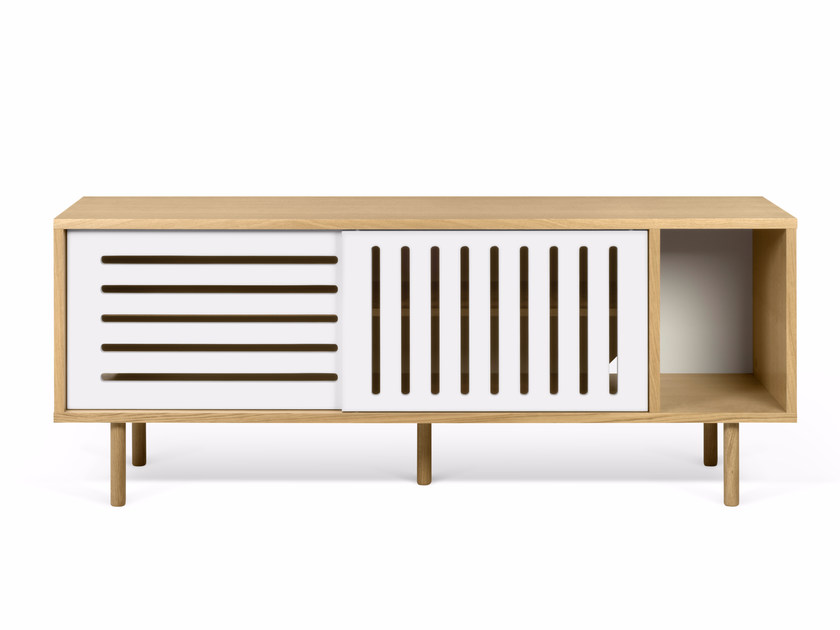 Sideboard with sliding doors DANN STRIPES | Sideboard by TemaHome