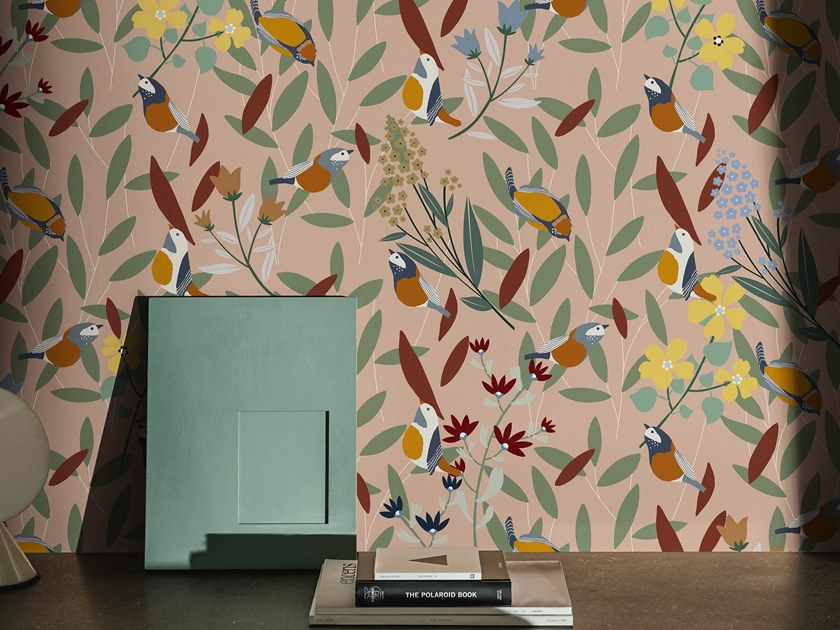 Motif wallpaper DANS LE BOIS by Wall&decò