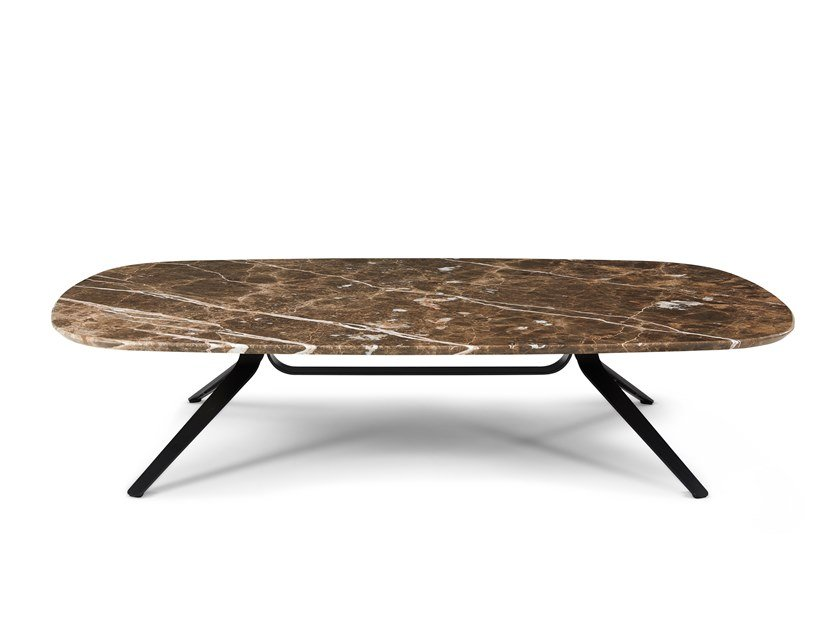 Rectangular marble coffee table DANTE | Rectangular coffee table by Montis