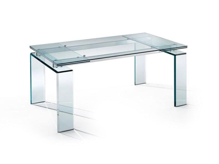Tavoli In Cristallo Allungabili Reflex.Tavolo Allungabile Rettangolare In Vetro Dardo By Reflex