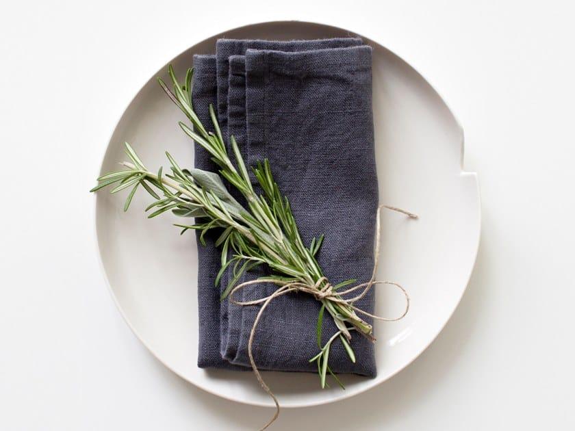 Washed linen napkin DARK GREY | Napkin by Linen Tales