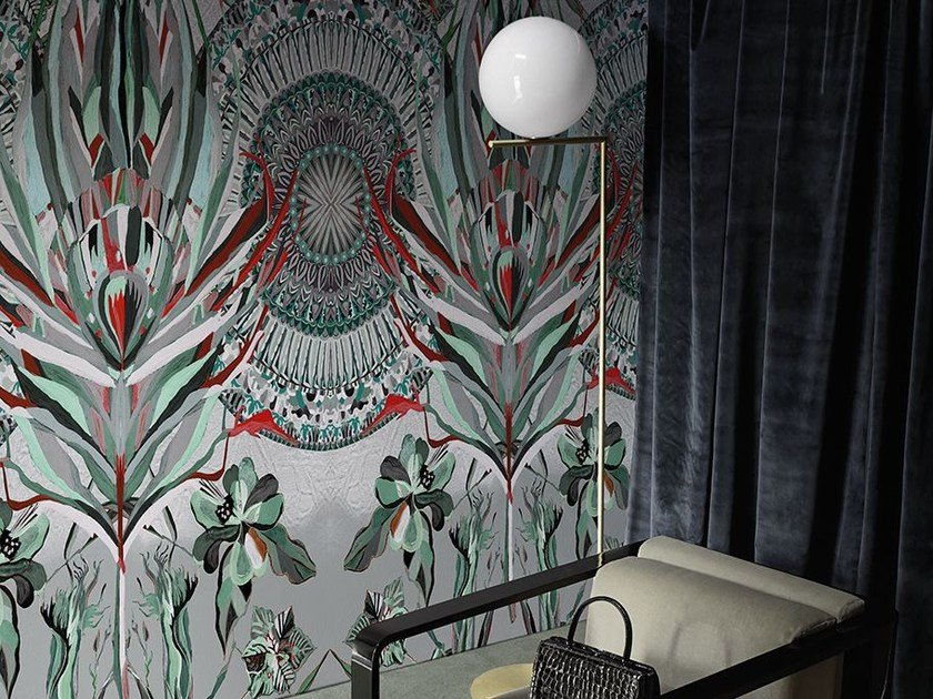 Wallpaper with floral pattern DARLINGTONIA by Wall&decò