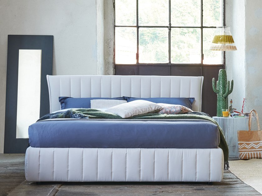 Upholstered double bed DARRON by Dorelan