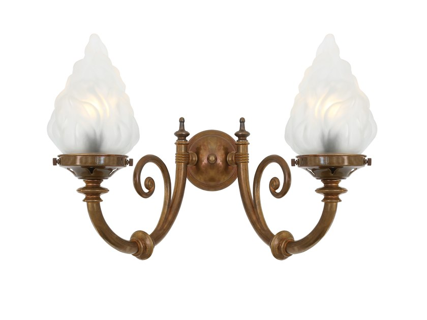Handmade wall light DARWIN 2 ARMS by Mullan Lighting