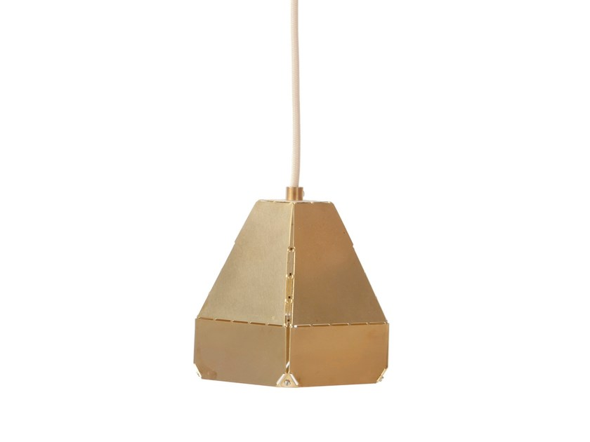 Brass pendant lamp DASHED LIGHT IN BRASS - DL 10 by Vij5