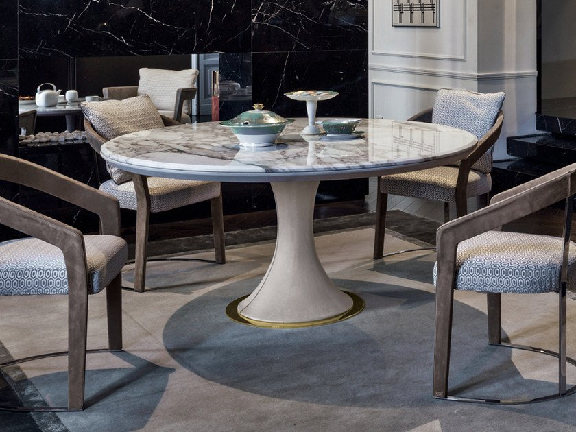 Round Marble Table DAVID | Marble Table By Longhi